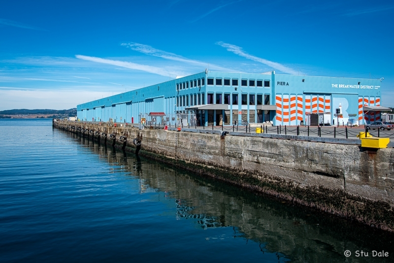 Vacant Cruise Boat Terminal at the Breakwater District